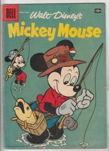 Mickey Mouse, Walt Disney's #59 (Apr-58) FN- Mid-Grade Mickey Mouse, Goofy