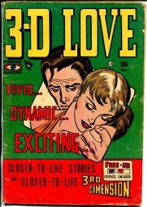 3-D Love  #1 1953-1st issue-terrific art-rare-original glasses-VG