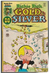 RICHIE RICH GOLD & SILVER 10 VG+ Feb. 1977