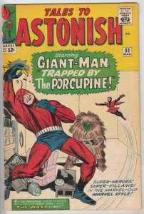 Tales to Astonish #53 (Mar-64) VG/FN Mid-Grade Giant-Man, the Wasp