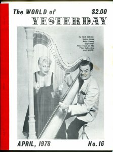 World of Yesterday #16 2/1978-Dead End Kids-Bowery Boys-2nd Anniversary-FN