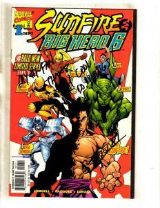 Sunfire & Big Hero 6 # 1 NM- SIGNED By Vazquez Marvel Comic Book Baymax J339