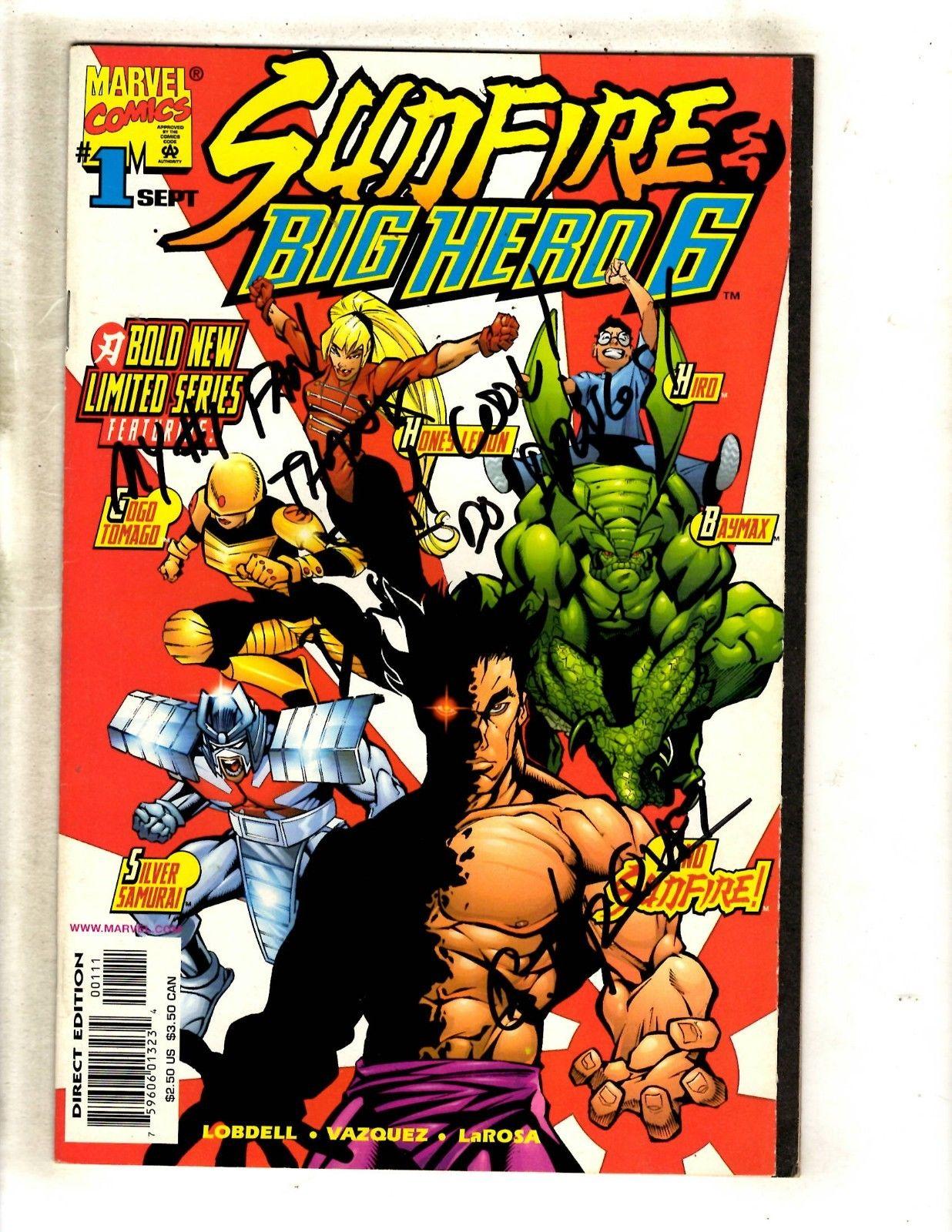 Big Hero Comic sunfire & big hero 6 # 1 nm- signedvazquez marvel comic