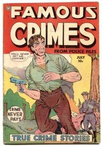 Famous Crimes #18 1950- Golden Age comic VG
