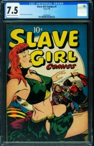 Slave Girl Comics #1 CGC 7.5 Spicy Good Girl Avon Spicy GGA 2039500001