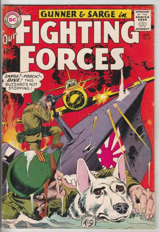 Our Fighting Forces #87 (Oct-64) FN/VF High-Grade Gunner and Sarge, Pooch