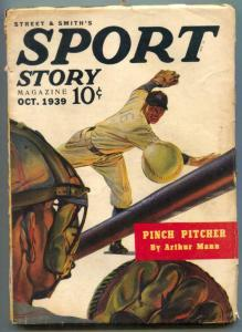 Sport Story Pulp October 1939 - Pinch Pitcher- Baseball cover