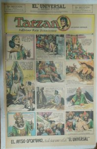 Tarzan Sunday Page #638 Burne Hogarth from 5/30/1943 in Spanish! Full Page Size