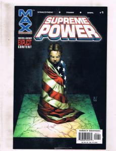 Lot Of 6 Supreme Power Marvel MAX Comic Books # 1 2 3 4 5 6 J M Straczynski RC6