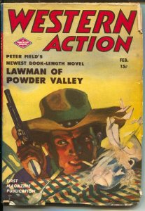 Western Action 2/1944Double Action-Lawman of Powder Valley-violent pulp ficti...