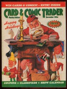 CARD AND COMIC TRADER 1994 DEC-SANTA CLAUS COVER FN/VF