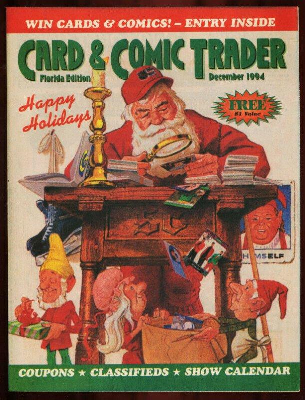 CARD AND COMIC TRADER 1994 DEC-SANTA CLAUS COVER FN/VF