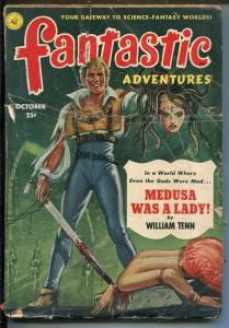 Fantastic Adventures Pulp October 1951- Decapitation cover- Virgil Finlay G
