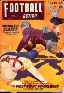 FOOTBALL ACTION FALL 1945-GEORGE GROSS COVER G
