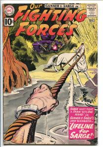 OUR FIGHTING FORCES #64-1960-DC-SILVER AGE-POOCH-LAST 10¢ ISSUE-GUNNER-SARGE-vg+