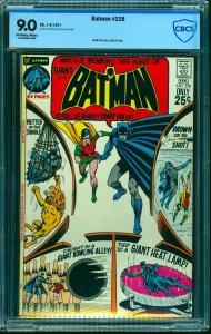 Batman #228 CBCS VF/NM 9.0 Off White to White