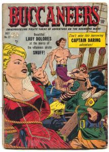 Buccaneers #22 1950- Golden Age bondage cover- Captain Daring G