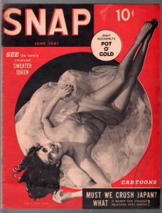 Snap #6 6/1941-Mickey Walker-cheesecake-Capt America & Hitler-VG/FN