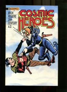COSMIC HEROES 8-1989-MEN FIGHTING-NEWSPAPER RE-PRINTS VG