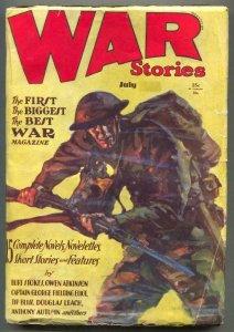 War Stories Pulp July 1930- Owen Atkinson VG+