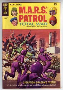 M.A.R.S. Patrol Total War #10 (Aug-69) VF/NM+ High-Grade M.A.R.S. (Sgt. Joe S...