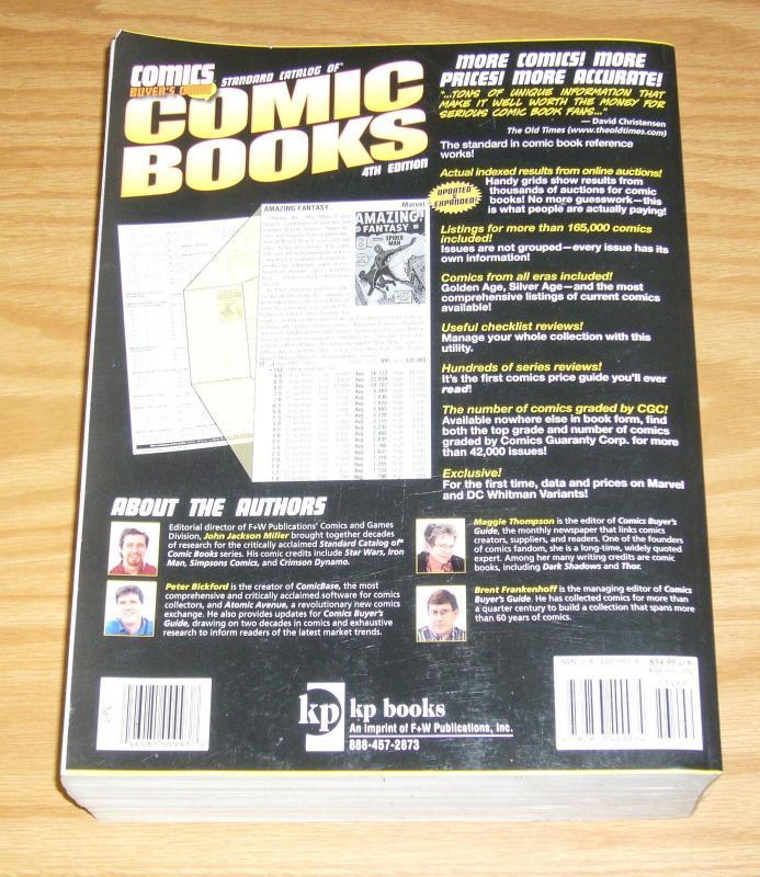 Standard Catalog of Comic Books #4 SC FN/VF john jackson miller - softcover 2005