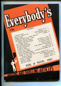EVERYBODY'S #1-02/1941-REAL LIFE TARZAN'S-CRIME-THE MUMMY-SOUTHERN STATES-vf