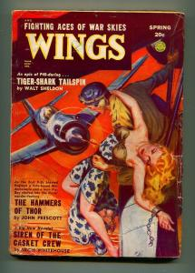 WINGS SPRING 1949-FICTION HOUSE-VG+
