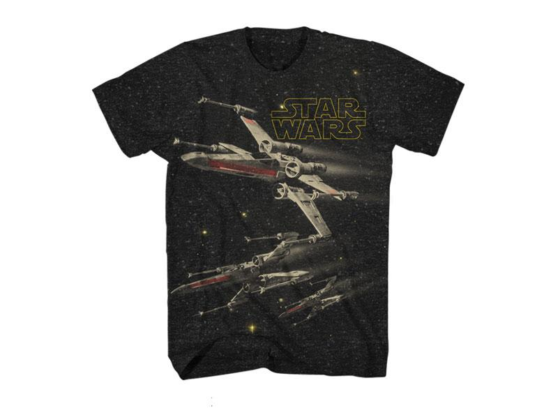 CLASSIC STAR WARS T-SHIRT X-WING FIGHTERS