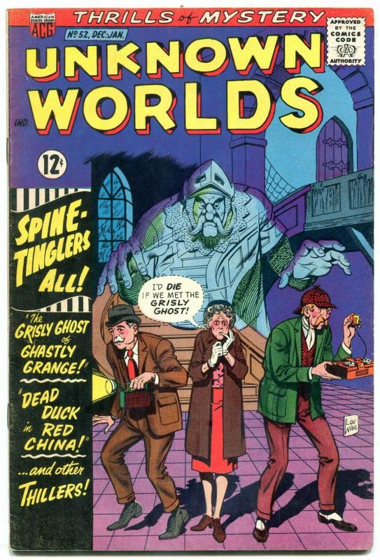 Unknown Worlds #52 1966- ACG Silver Age- Sherlock Holmes parody cover VG+