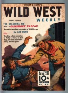 WILD WEST WEEKLY 9/20/1941-WESTERN PULP-OKLAHOMA KID! VG