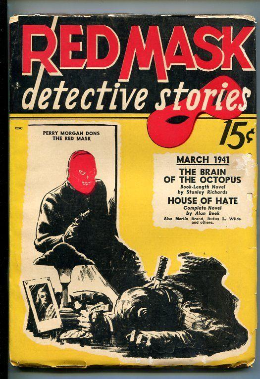 RED MASK DETECTIVE STORIES-#1-MAR 1941-PULP-SOUTHERN STATES PEDIGREE-fn minus