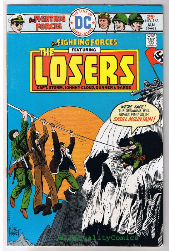 OUR FIGHTING FORCES #163, FN, The Losers, Joe Kubert, 1954, more in store