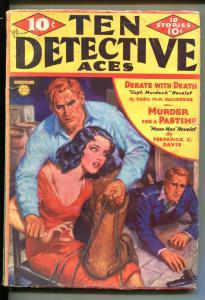 TEN DETECTIVE ACES 11/1936-MOON MAN-BONDAGE-PULP CRIME-MYSTERY-fr