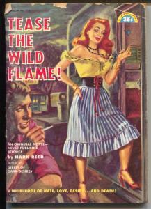 Rainbow Book #114 1952-Tease The Wild Flame-spicy-GGA-pulp-G/VG