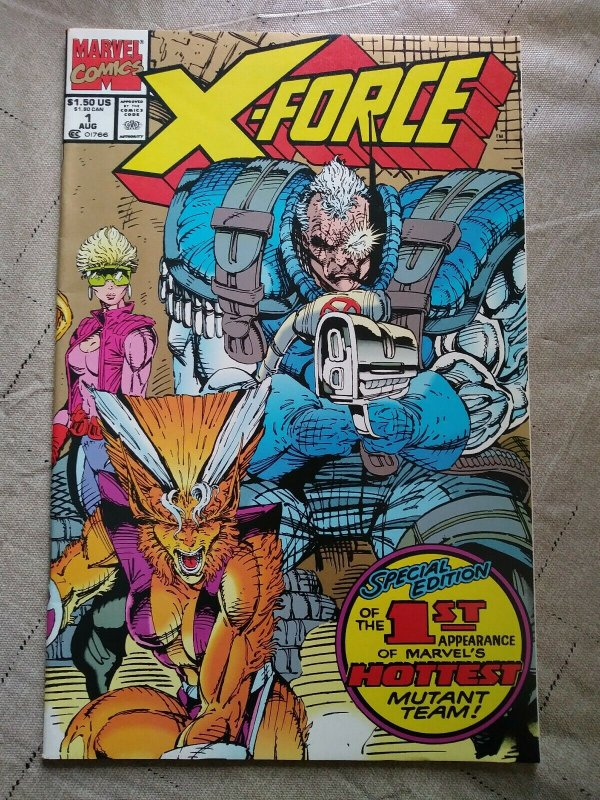 X-Force #1 Gold 2nd Print Issue (1991) Marvel Comics X-Men
