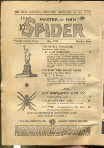 Spider 5/1941-Popular-The Devil's Paymaster-hero pulp-P