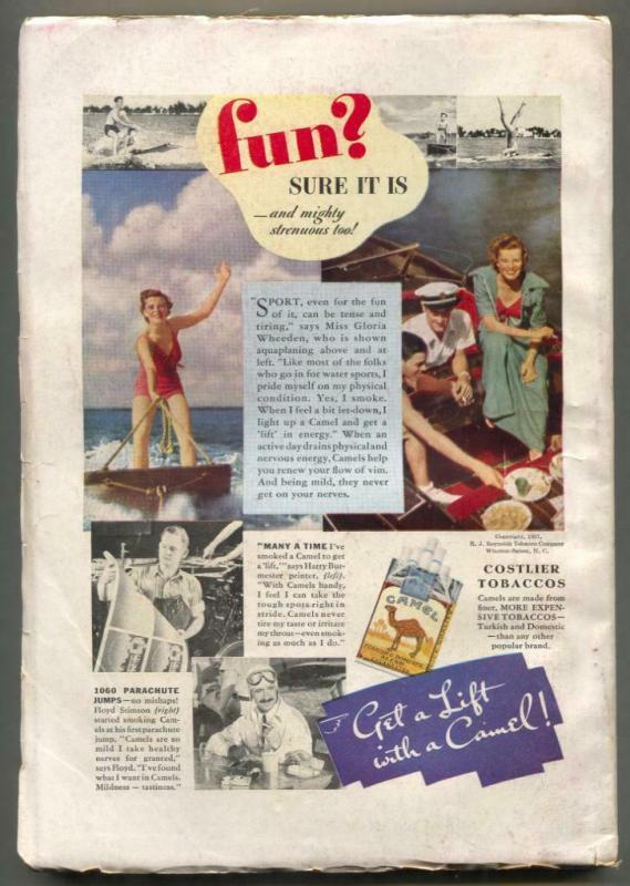 Adventure Pulp August 1937- No Quarter- Hanging cover