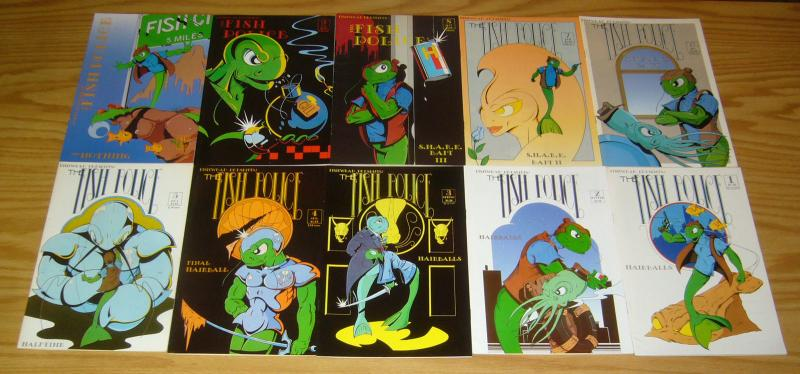 Fish Police #0 & 1-11 VF/NM complete series + vol. 2 #5-26 + special + poster