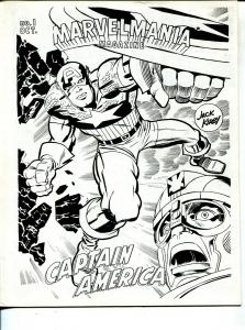 MarvelMania Magazine #1 1969-1st issue-Steranko-Jack Kirby-VF