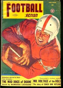 FOOTBALL ACTION 1952 FALL-GEORGE GROSS COVER FN