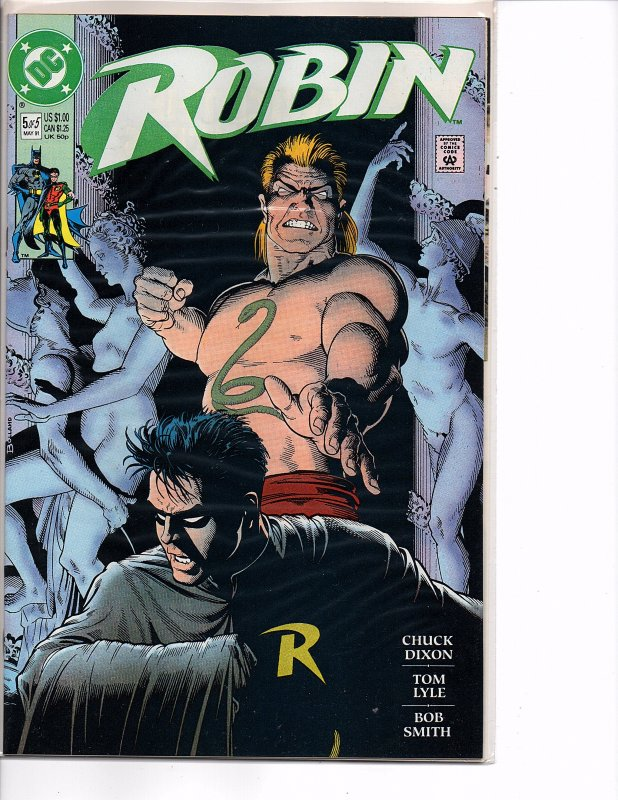 DC Comics (1991) Robin #5 Bolland Dixon Lyle King Snake Last Issue