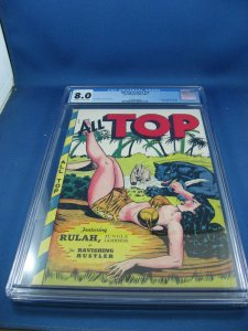 ALL TOP COMICS 13 CGC 8.0 MATT BAKER FOX PHANTOM LADY BLUE BEETLE RULAH 1948