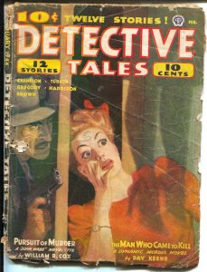 Detective Tales 2/1944-Atlas-DL Champion-Day Keene-hard boiled pulp-P