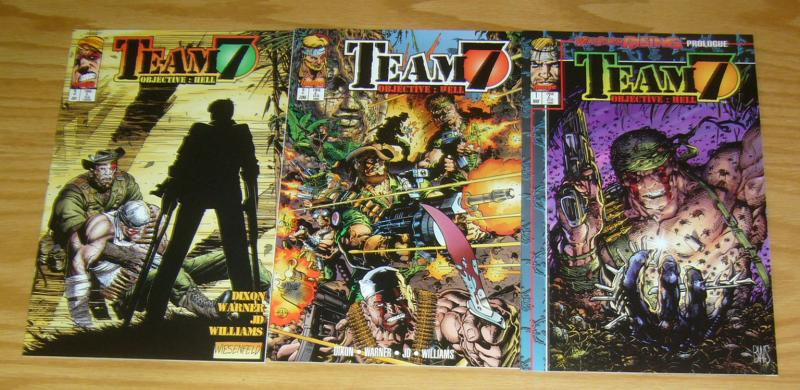 Team 7: Objective - Hell #1-3 VF/NM complete series - chuck dixon - inage comics