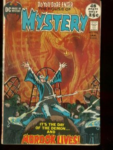 HOUSE OF MYSTERY #198 1972 DC COMICS HORROR ATOM BOMB VG/FN