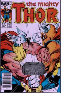 Thor #338 - Signed Walt Simonson - 9.0 or Better