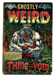 GHOSTLY WEIRD STORIES #123-Monster cover-PRE-CODE HORROR L.B. COLE