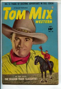 Tom Mix Western #33 1950-Fawcett-Photo cover -Carl Pfeufer story art-VG