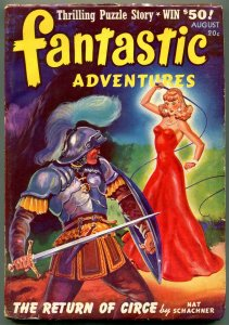 Fantastic Adventures Pulp August 1941- whipping cover- Return of Circe